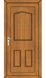 Oakham Solid uPVC Door in Oak