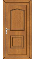 Poole Solid uPVC Door in Oak
