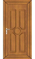 Queenferry Solid uPVC Door in Oak