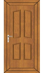 Rotherham Solid uPVC Door in Oak