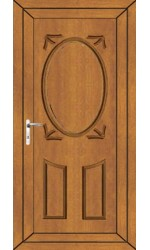 Swansea Solid uPVC Door in Oak