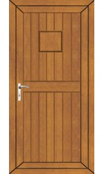 Telford Back Door Solid uPVC Door in Oak