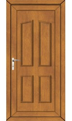 Darlington Solid uPVC Door in Oak