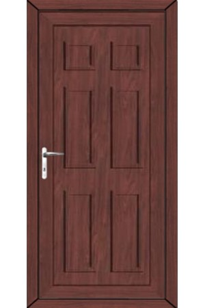 Ashford Solid uPVC Door in Rosewood