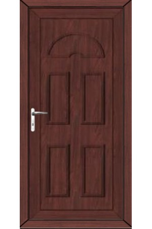 Blackburn Solid uPVC Door in Rosewood
