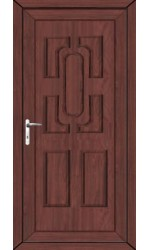 Colchester Solid uPVC Door in Rosewood