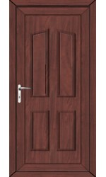 Darlington Solid uPVC Door in Rosewood