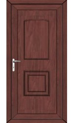 Folkestone Solid uPVC Door in Rosewood
