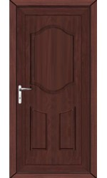 Gravesend Solid uPVC Door in Rosewood