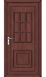 Harrogate Solid uPVC Door in Rosewood