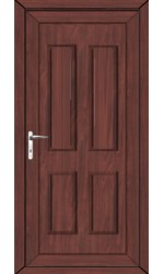 Ilkeston Solid uPVC Door in Rosewood
