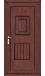 Loughborough Solid uPVC Door in Rosewood