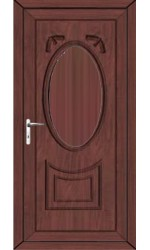 Maidenhead Solid uPVC Door in Rosewood
