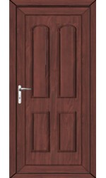 Newport Solid uPVC Door in Rosewood