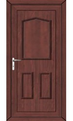 Oakham Solid uPVC Door in Rosewood