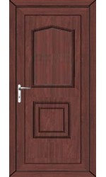 Poole Solid uPVC Door in Rosewood