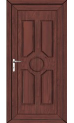 Queenferry Solid uPVC Door in Rosewood