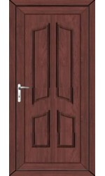 Rotherham Solid uPVC Door in Rosewood