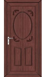 Swansea Solid uPVC Door in Rosewood