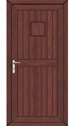 Telford Back Door Solid uPVC Door in Rosewood