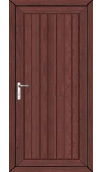 Upminster Solid uPVC Door in Rosewood