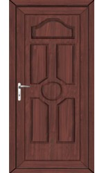 Viewpark Solid uPVC Door in Rosewood