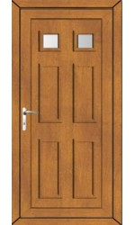 Ashford Clear Glazed uPVC Door in Oak