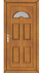 Blackburn Clear Glazed uPVC Door in Oak