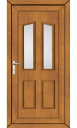 Darlington Clear Glazed uPVC Door in Oak