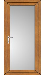 Full Glass uPVC Door in Oak