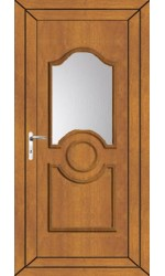 Jacobstow Clear Glazed uPVC Door in Oak