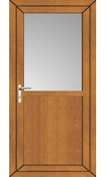 Kings Lynn Flat Panel uPVC Door in Oak