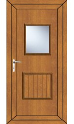 Loughborough Large Glazed uPVC Door in Oak