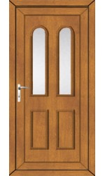 Newport Clear Glazed uPVC Door in Oak