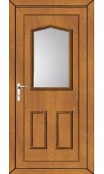 Oakham Clear Glazed uPVC Door in Oak