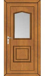 Poole Clear Glazed uPVC Door in Oak