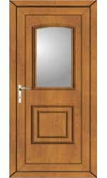 Folkestone Clear Glazed uPVC Door in Oak