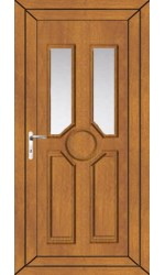 Queensferry Clear Glazed uPVC Door in Oak