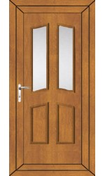 Rotherham Clear Glazed uPVC Door in Oak
