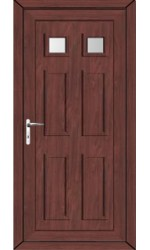 Ashford Clear Glazed uPVC Door in Rosewood