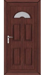 Blackburn Clear Glazed uPVC Door in Rosewood