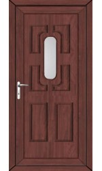 Colchester Clear Glazed uPVC Door in Rosewood