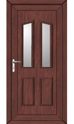 Darlington Clear Glazed uPVC Door in Rosewood
