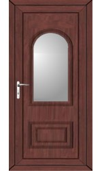 Ellesmere Port Clear Glazed uPVC Door in Rosewood