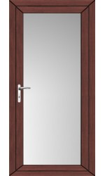 Full Glass uPVC Door in Rosewood