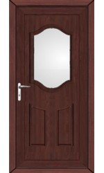 Gravesend Clear Glazed uPVC Door in Rosewood