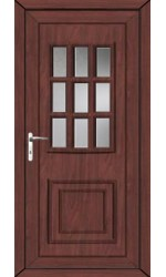 Harrogate Clear Glazed uPVC Door in Rosewood