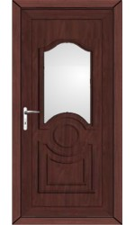 Jacobstow Clear Glazed uPVC Door in Rosewood