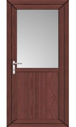 Kings Lynn Flat Panel uPVC Door in Rosewood