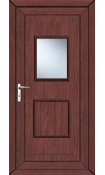 Loughborough Large Glazed uPVC Door in Rosewood